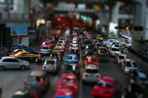 tilt shift rush hour by alexci
