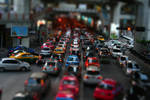 tilt shift rush hour