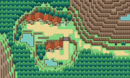 Mountain Town by BluePlays