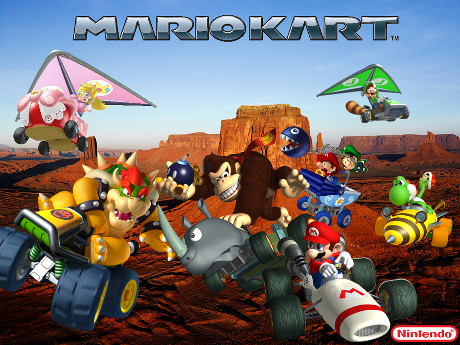 mario kart wallpaper by thatkidwiththeafro on deviantart