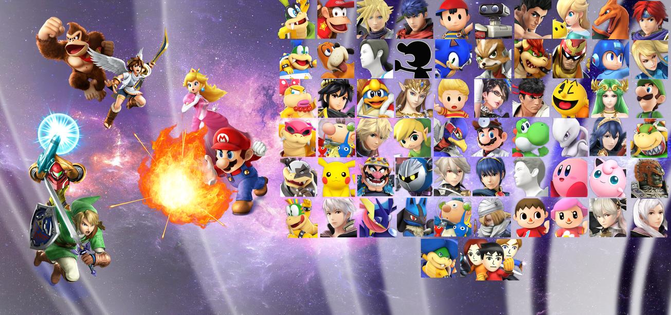 Super Smash Bros. 4 Wallpaper by Galaxy-Afro
