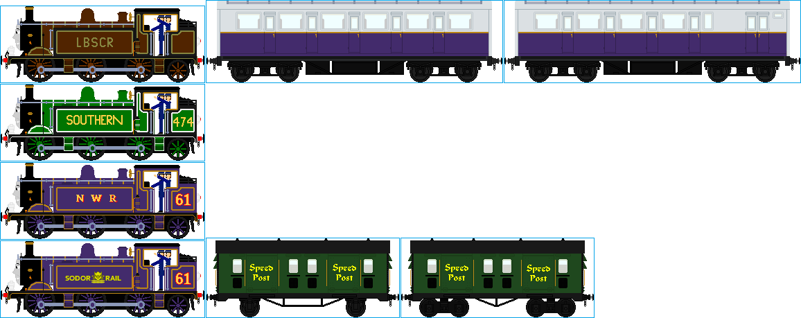 Muldrew the LBSCR E4 and Rolling Stock by Galaxy-Afro