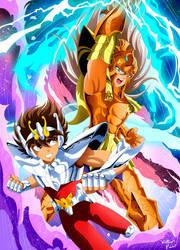 Seiya vs Bian by mateuspaiao