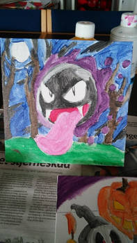 Gastly painting