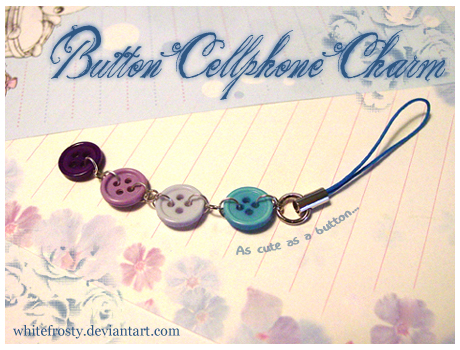 Button PhoneCharm by whitefrosty