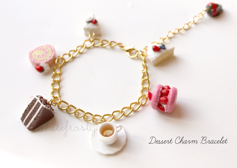 Dessert Charm Bracelet by whitefrosty
