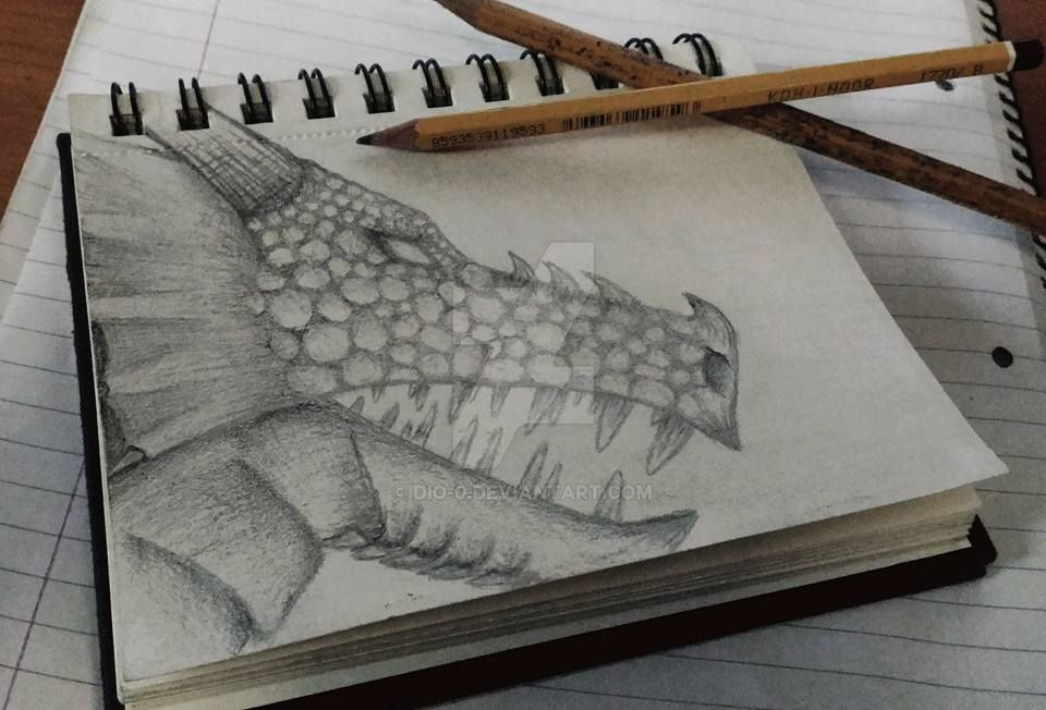 Dragon Head Sketch by dio-0