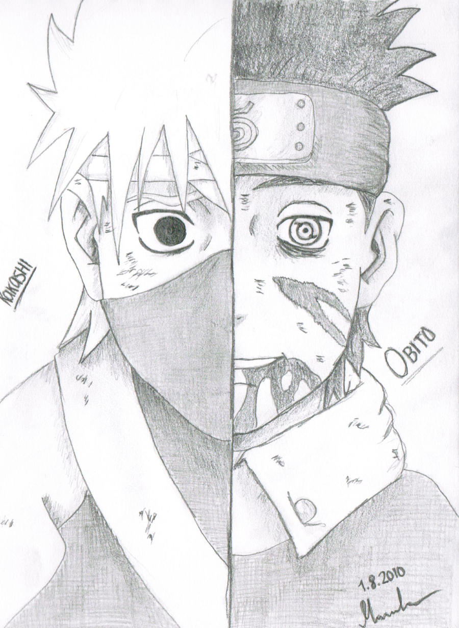 "Kakashi and Obito ""Scanner"" by Mortzzi94 on DeviantArt"
