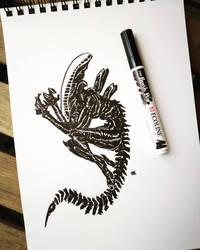 Alien sketch by MrMayhemm