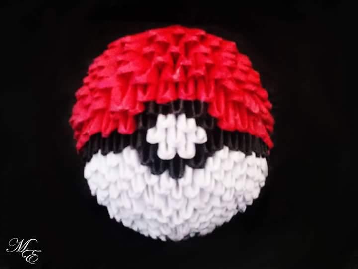 3d Origami Pokeball By Mystik Elements On Deviantart