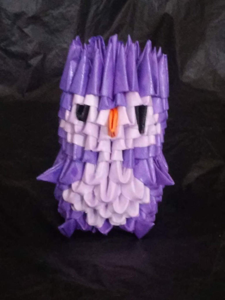 Lavender Purple 3d Origami Penguin By Mystik Elements On Deviantart
