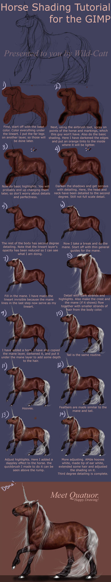Horse Shading Tutorial V3 GIMP by Vizseryn
