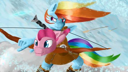 rainbow dash shooting pinkie pie