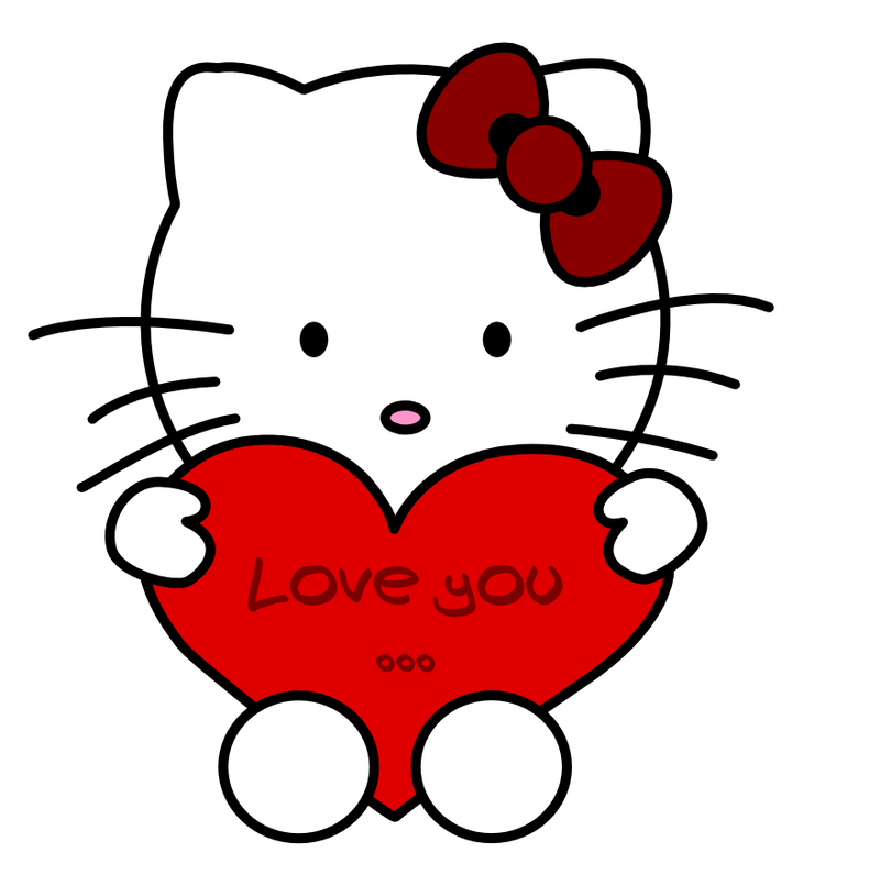 Love you... Hello Kitty by erysfoly on DeviantArt  Love you... Hel...