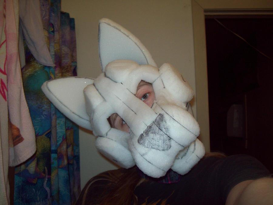 Wolf Fursuit Head WIP 2 by JohnnyDeppsGirl4life