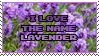 I love the Name Lavender by Mandspasm