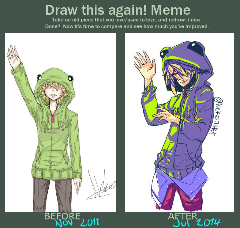 draw this again meme template - draw this again meme by nekomiira on deviantart