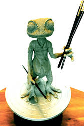 Rango Really Likes Sculpting by Herr-Sandslott