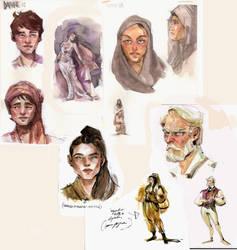 Watercolour concept-sketches by Eirwen980