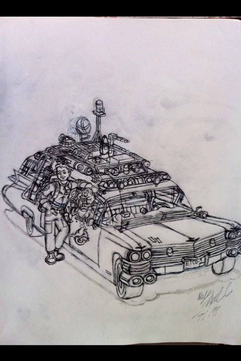 Ray Slimer Ecto-1 Spooktacular by GBAxel