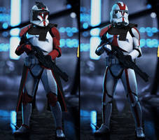 Custom made Clone Trooper Commanders
