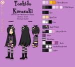 Toshido Kurasaki Ref sheet (Classic Duds) by ToshidoGamekaze