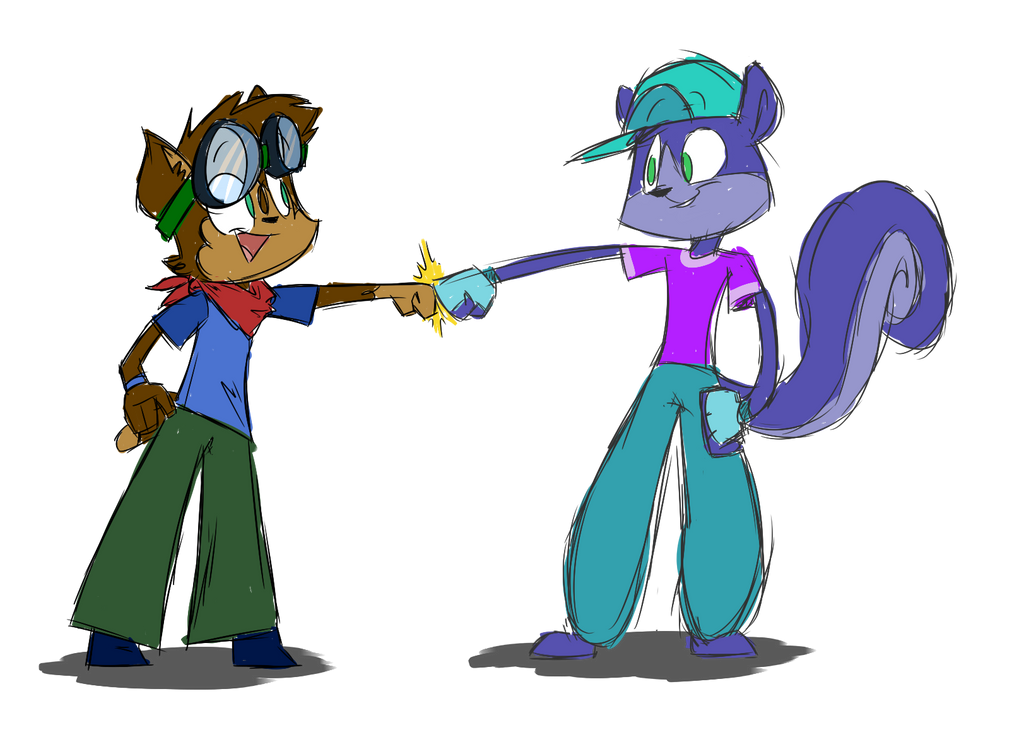 Jell-o and Boomer by IrontwistFiM