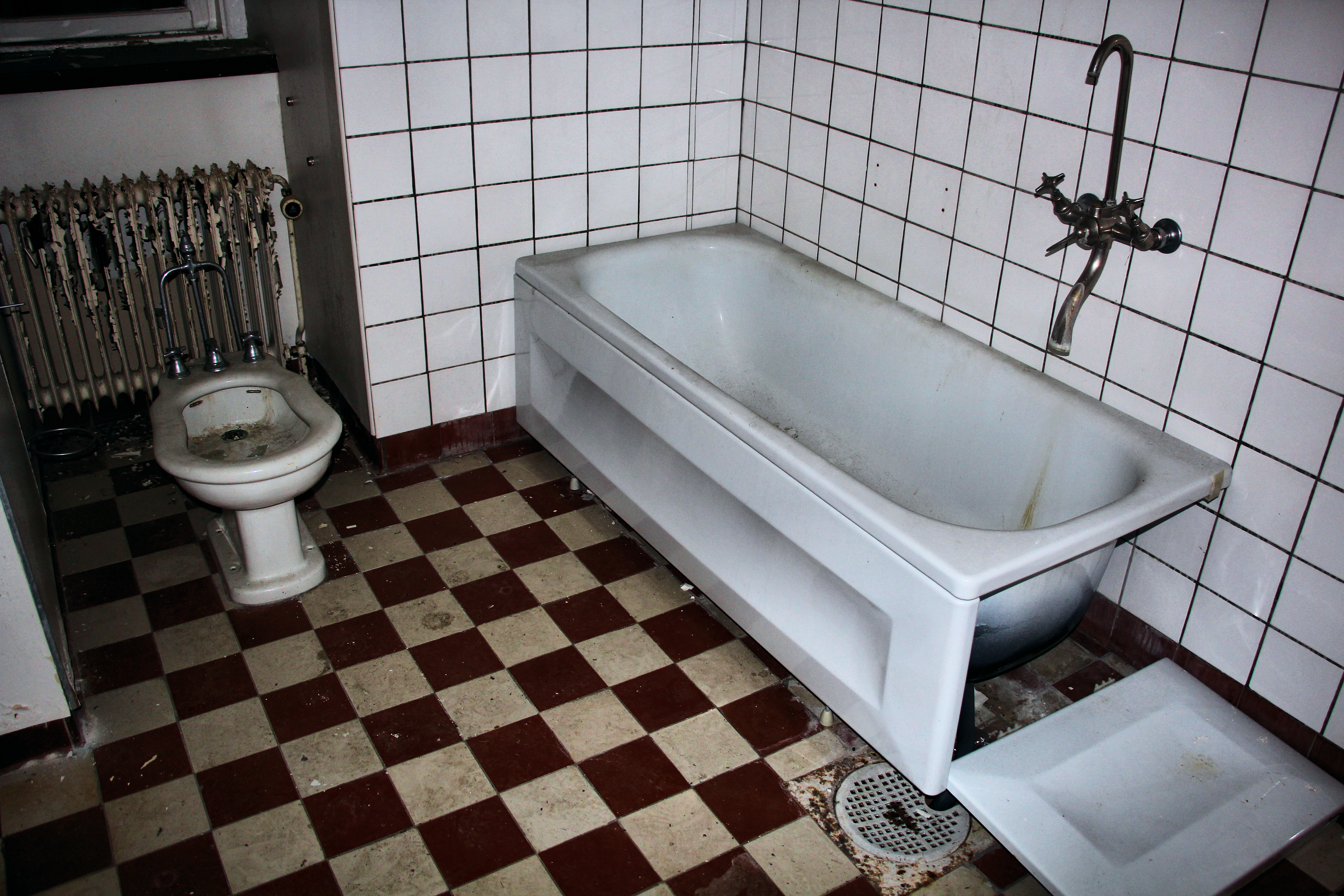 hospital bathroom. Abandoned hospital bathroom by TheManWithTheHat666  on DeviantArt