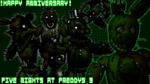 [C4D/FNaF] FNaF 3 Anniversary Poster