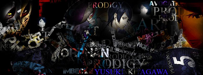 Yusuke Kitagawa (Persona 5) Cover Photo Ver.1B by blasiankid