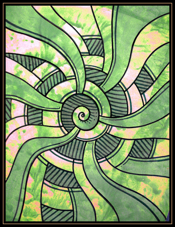 green abstractos by santosam81