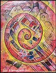 spirale red yellow