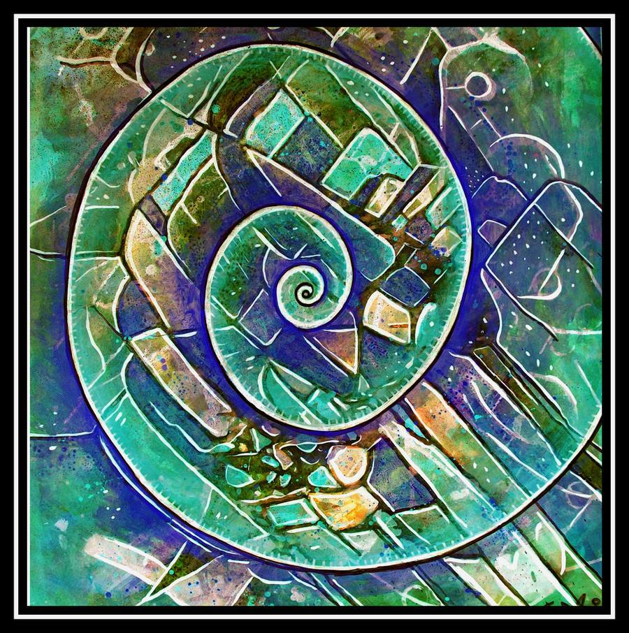 spirale green blue by santosam81