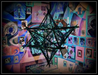 oldpaintingrevisited star purple blue digital by santosam81