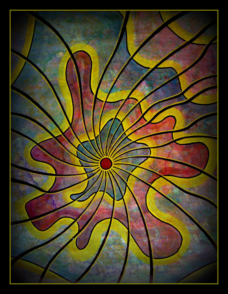 oldpaintingrevisited abstract lines by santosam81