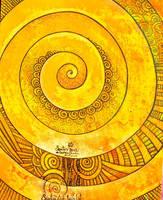 golden santo spiral by santosam81