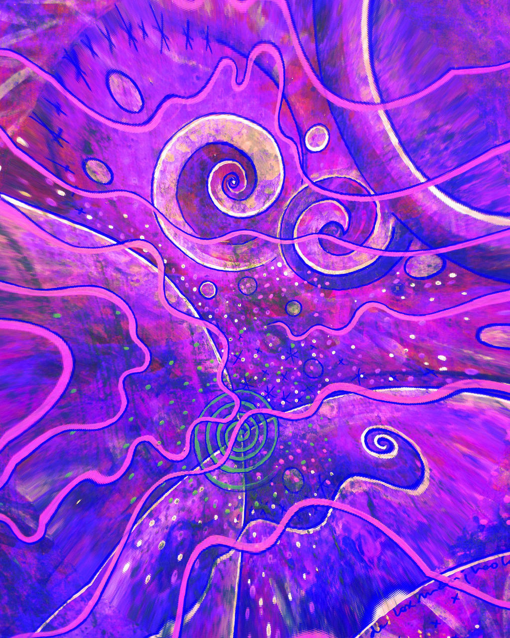 purple spiral digital cosmos by santosam81