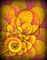 yellow spiral bubbling