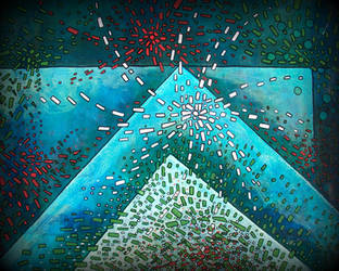 blue triangle by santosam81
