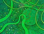 green sea weed cosmic bubble