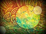 cosmic moon n sun pollock style, detail
