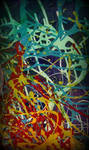 abstract art colorfull pollock style