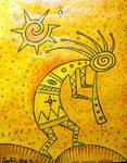 yellow shaman hopi kokopelli kashina santosun