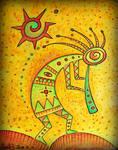 yellow shaman hopi kokopelli kashina santosun ...