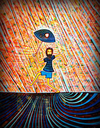 it s raining again , broken umbrella by santosam81