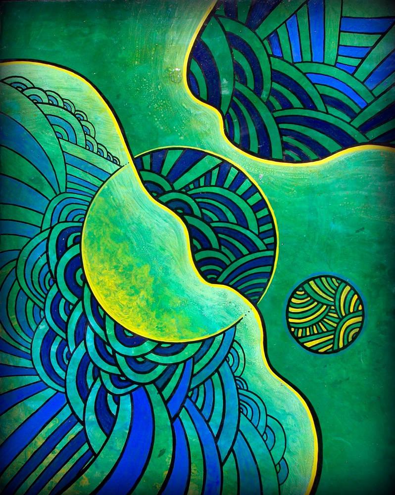 abstractobluegreen