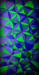 blue flower of life going to hexagone wallpaper by santosam81