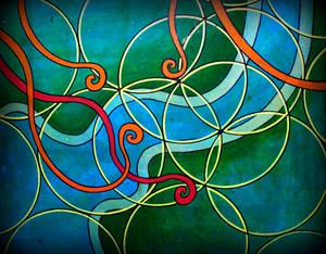 flow, flower of life n spirals