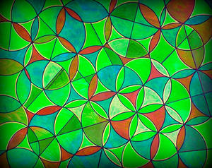 bubbles flower of life green blue