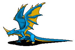Blue Dragon Sprite by Cronos-Vanreicht